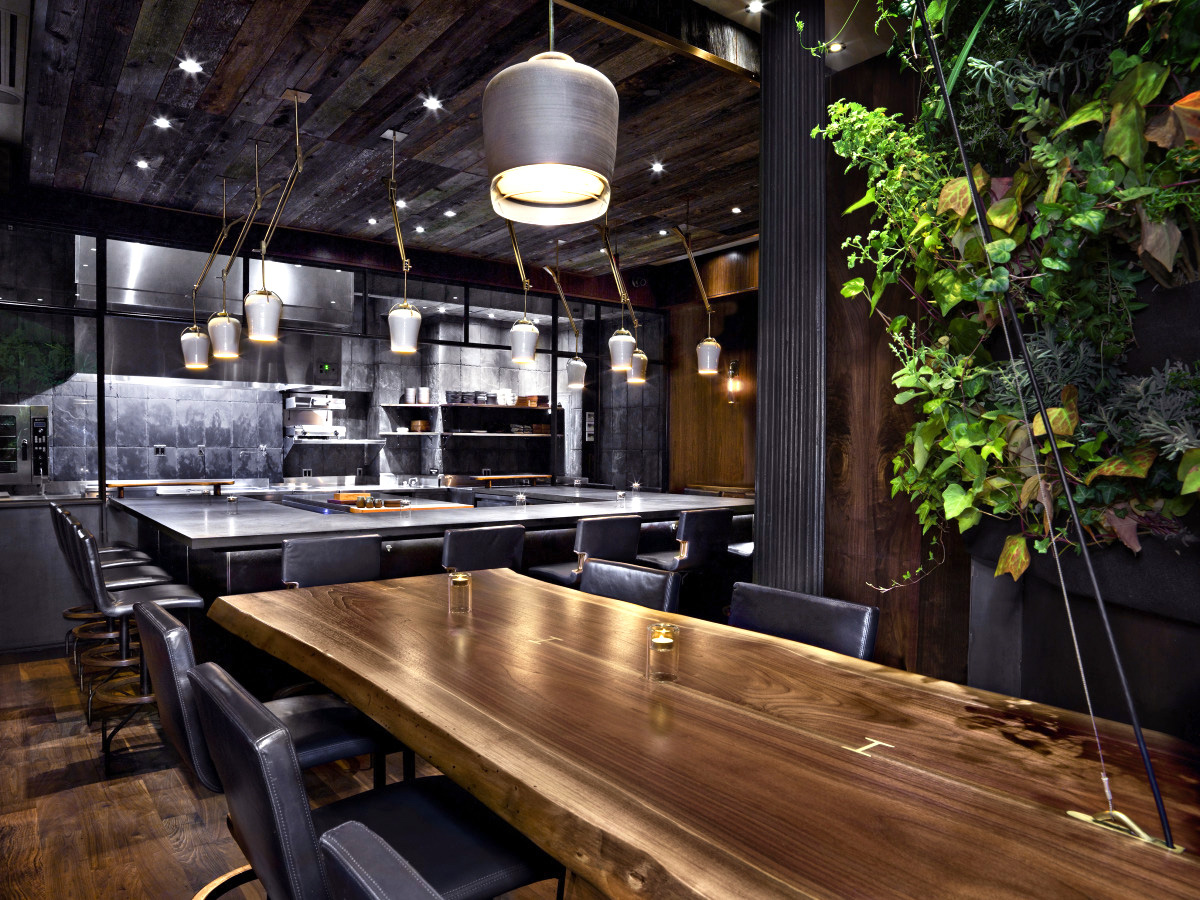 Custom Live Edge Design Table for Atera Restaurant, Tribeca
