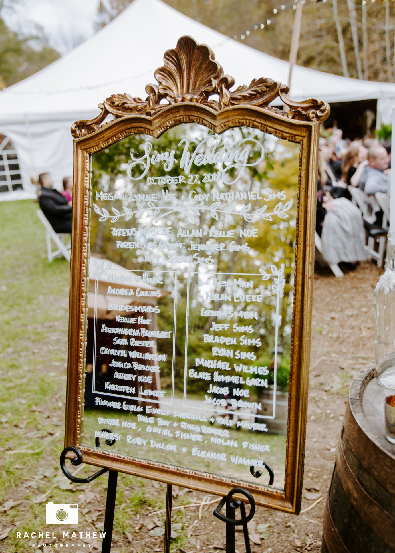 evansville indiana wedding signage