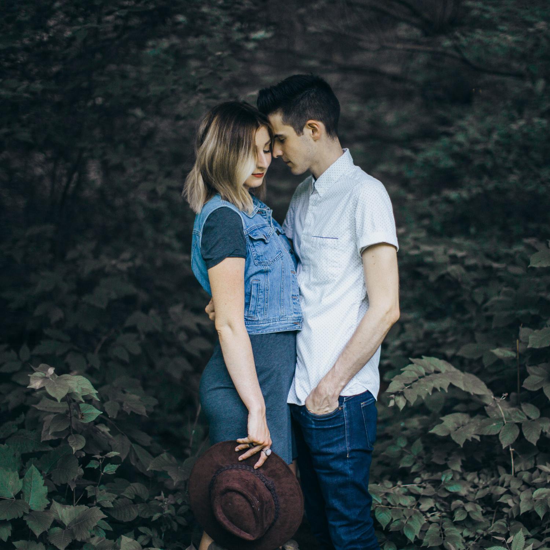 Lawrence & Kansas City Non-Traditional Creative Artistic Engagement & Wedding Photographer