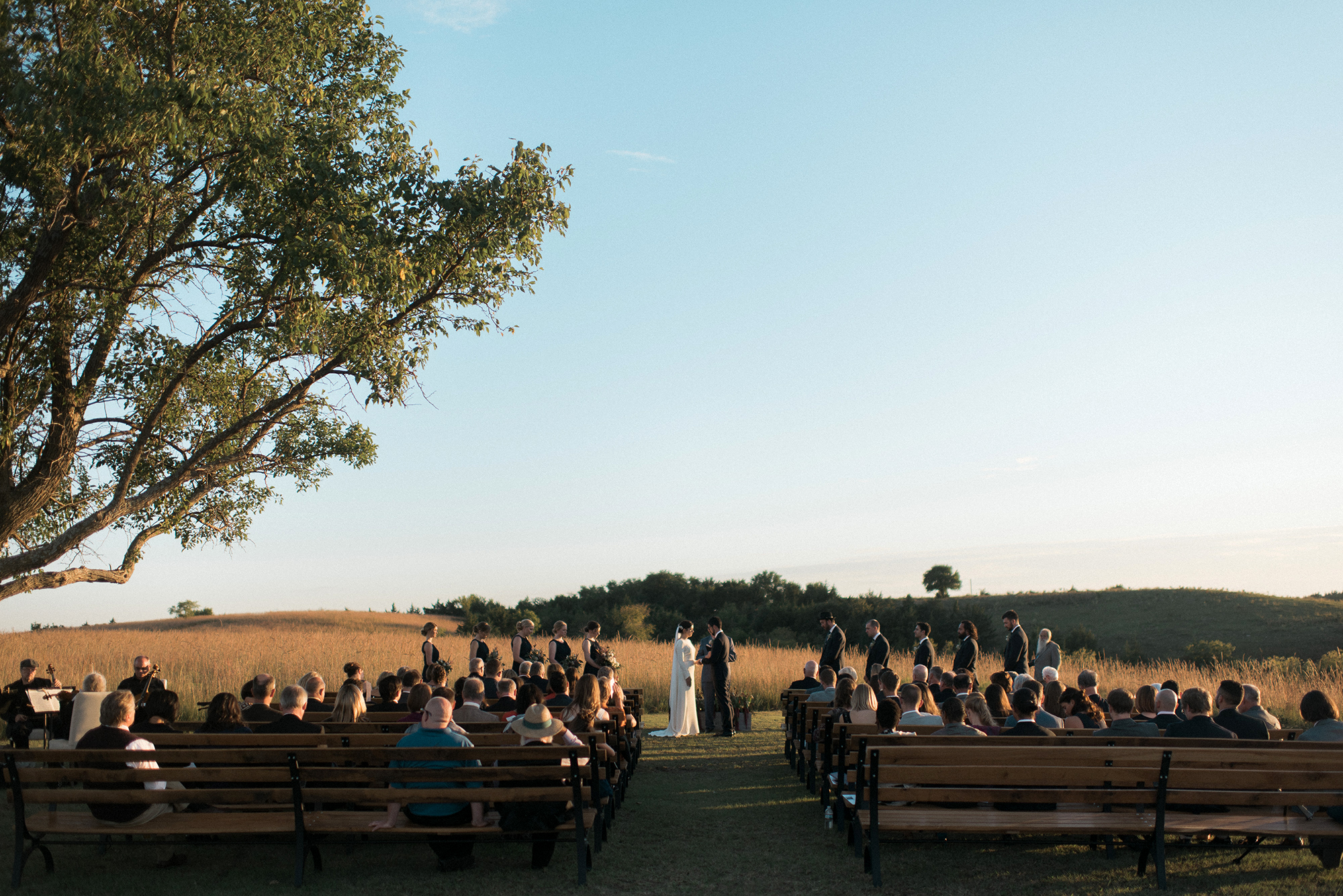 Flint Hills Wedding Ceremony Reception Photographer
