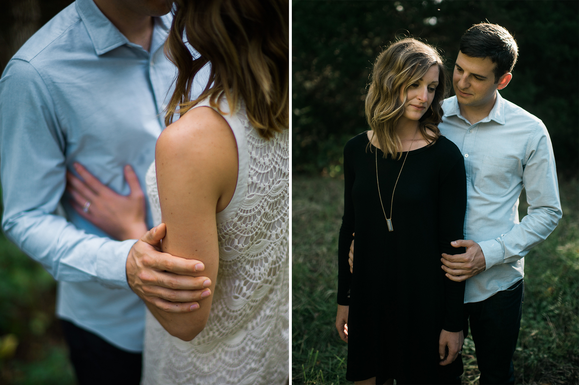 Woodsy engagement portraits in Kansas City, Missouri