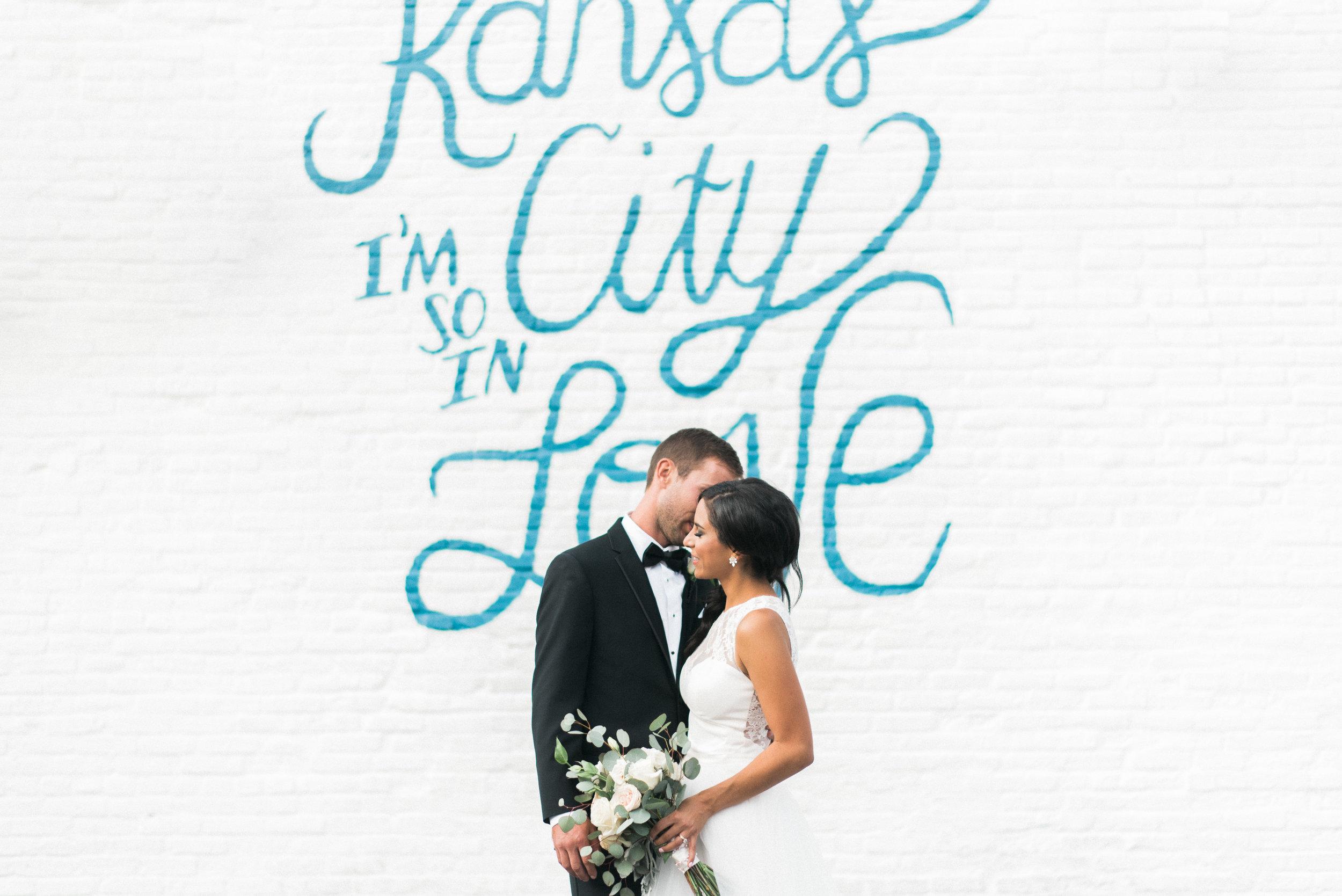 Derek Fisher & Sarah Gayed's wedding photographs by Kansas City wedding and portrait photographer Rusty Wright.