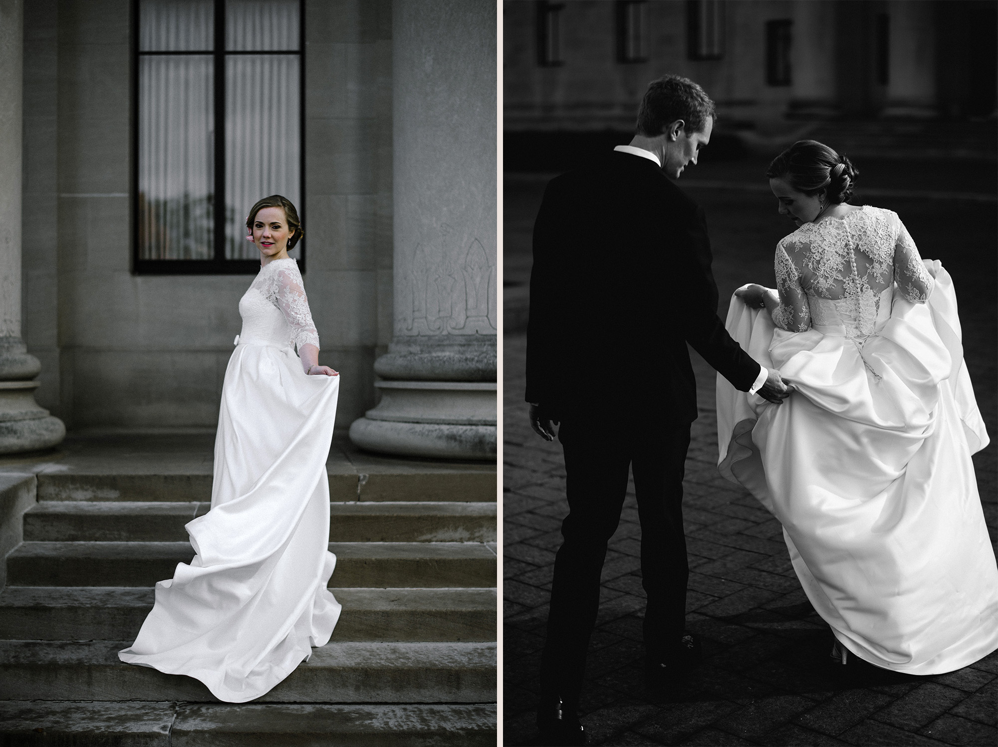 Kansas City Nelson-Atkins Museum Wedding Portraits Photography