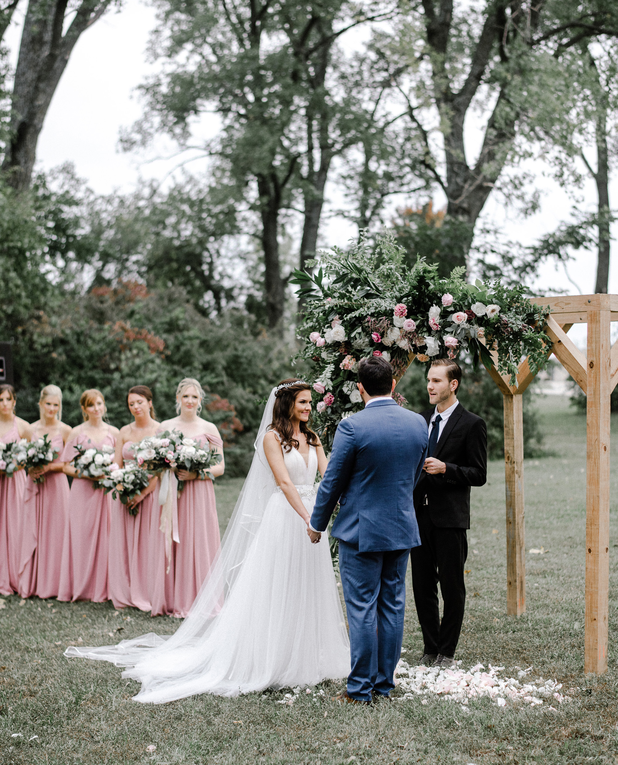 Zach Eaton Sara Albrecht Rusty Wright Auburn Kansas City Back Yard Wedding Photographer