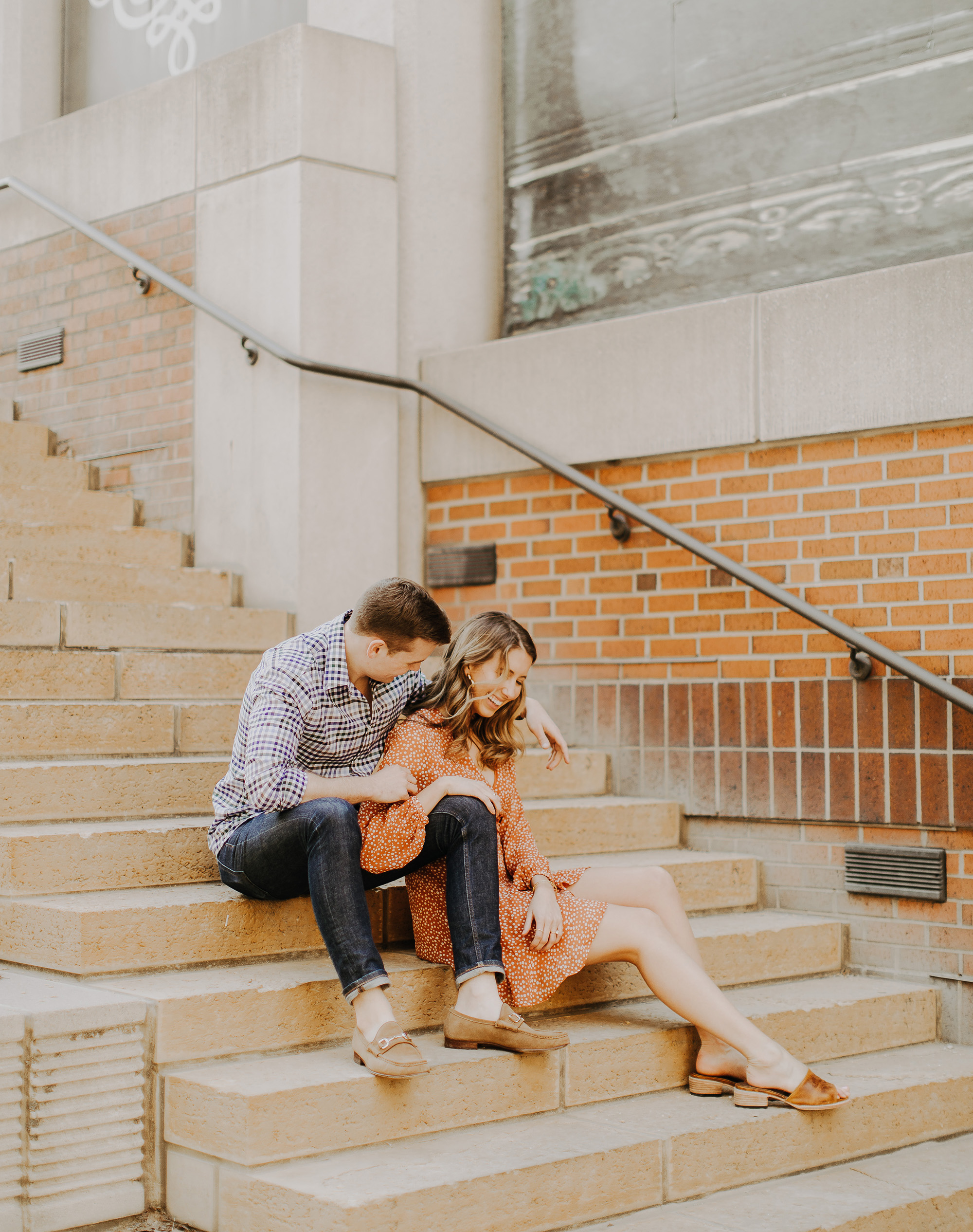 Wesley Goforth & Jaclyn Sheets's Kansas City Engagement Portraits by the Waldron Photograph Company.