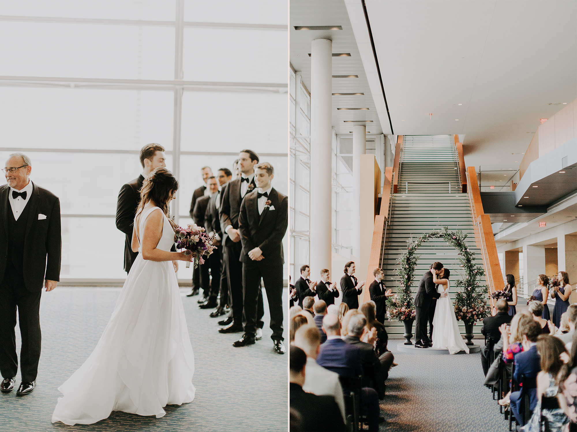 Lovestruck Events Rusty Wright Holland Performing Arts Center Wedding Ceremony & Reception