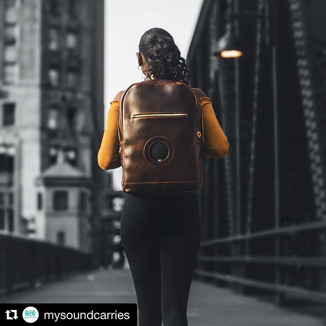#Newproduct alert @mysoundcarries  Custom leather backpacks with features that you dreamed of! (((Sound Carries)))