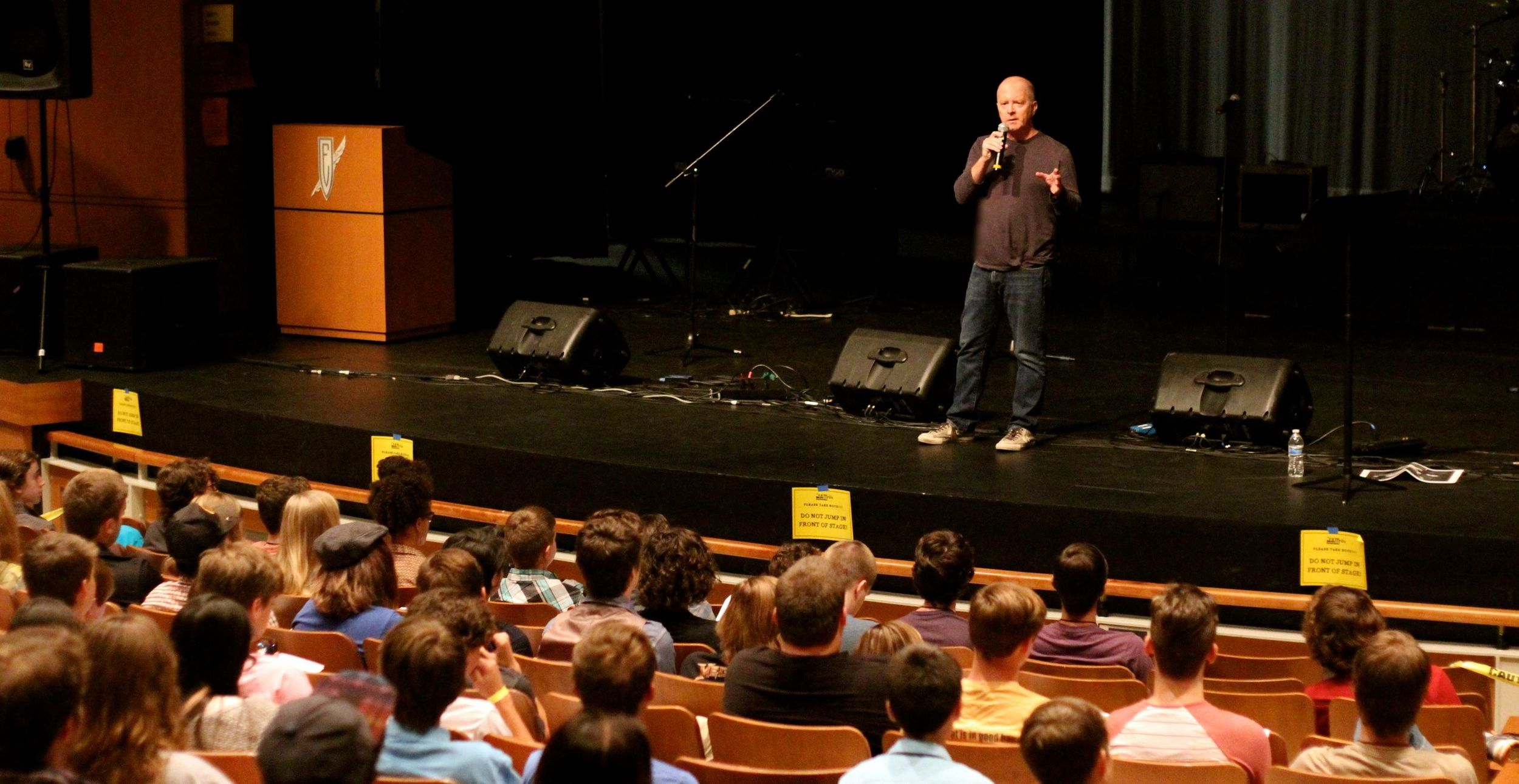 Mark's songwriting presentation at Ensworth, Franklin Tennessee