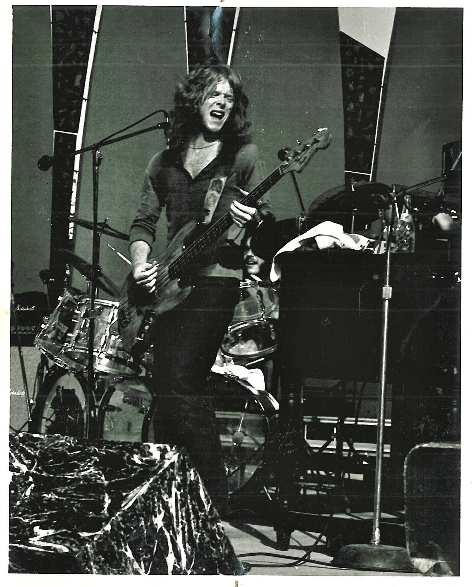 Early 80's with my pawn shop Jazz Bass circa '68