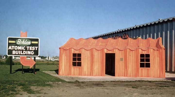 Image:     Atomic Test Building, Behlen Manufacturing, Columbus, Nebraska ,    Nebraska State Historical Society