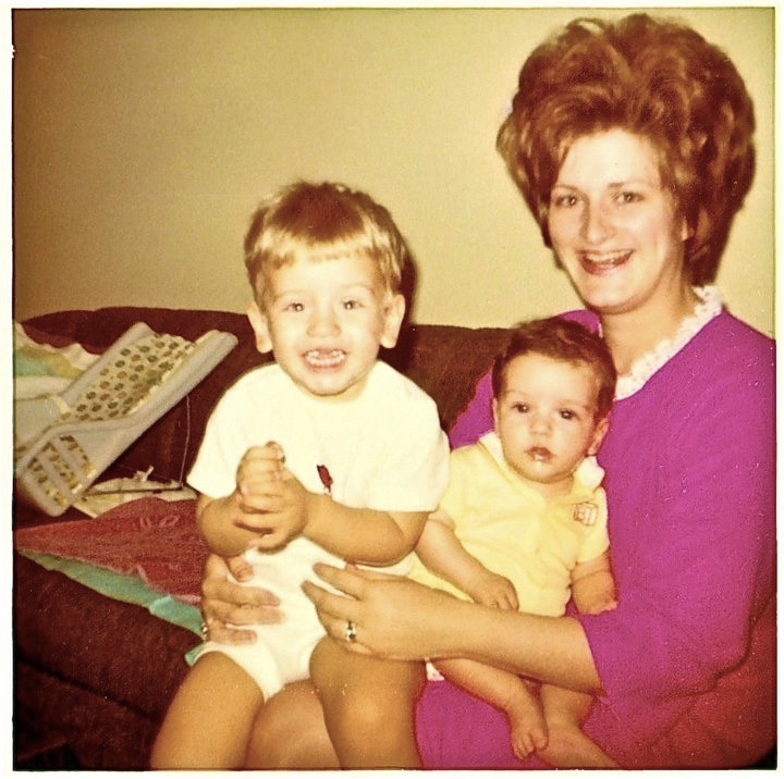 Myself, my little brother Arron, and Mom.... there was a cookie jar under her hair you know.