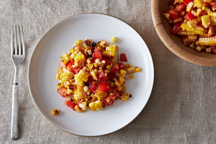 Grilled Corn and Tomato Salad with my SOUL-LICIOUS Soul Food Seasoning