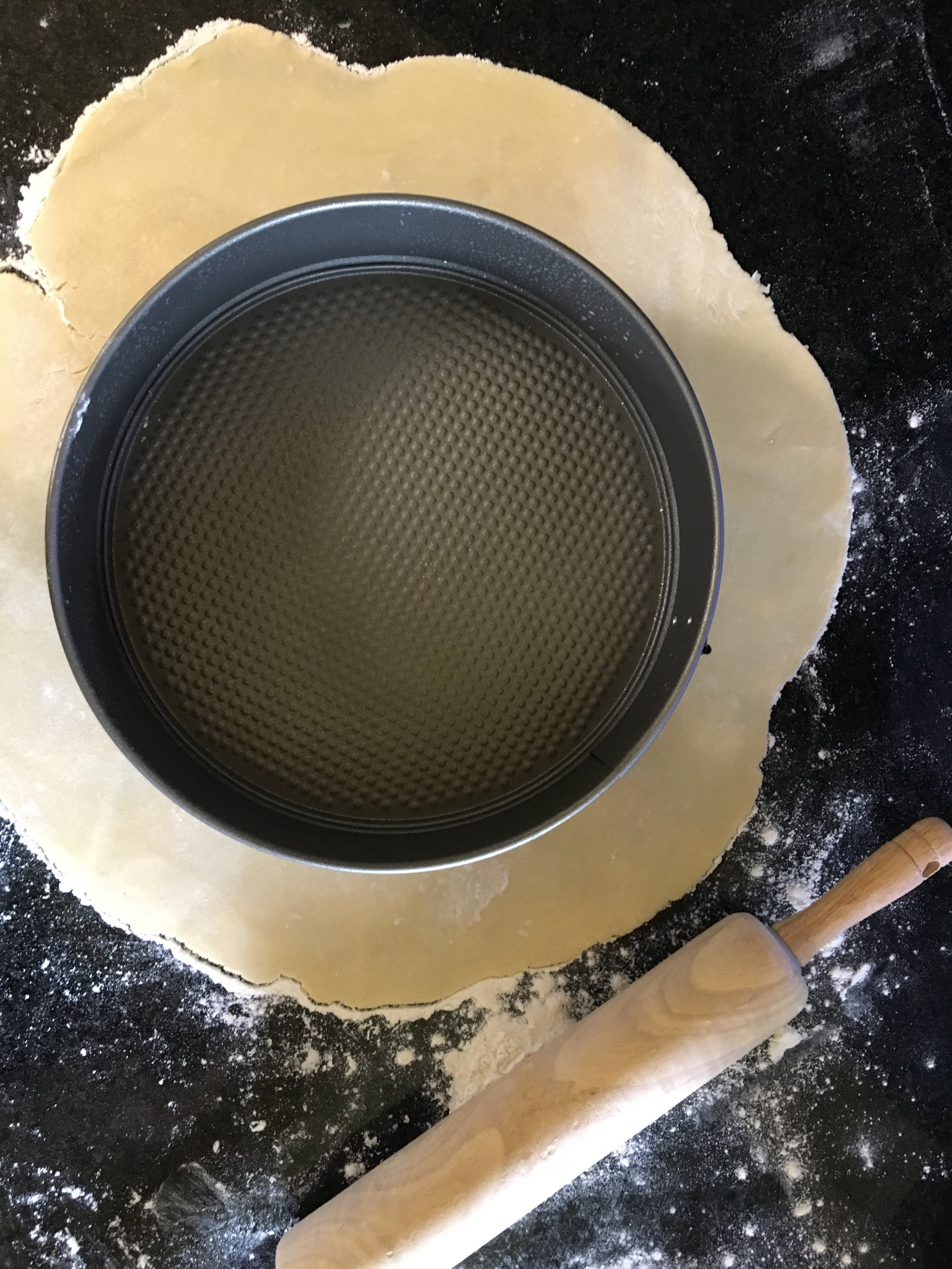 """Allow enough """"over-hang"""" to fit the dough in loosely"""