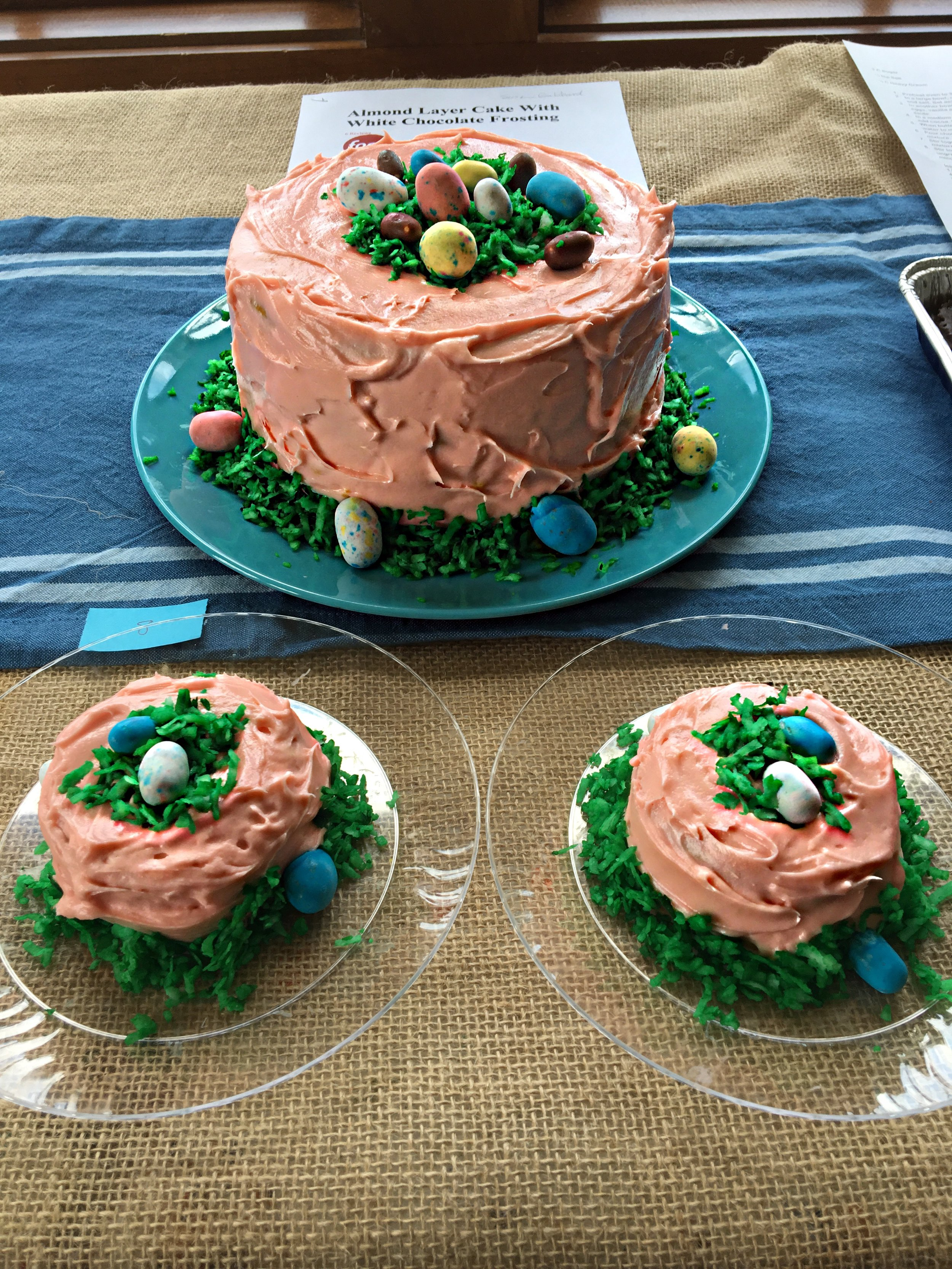 Third Place: Almond Layer Cake