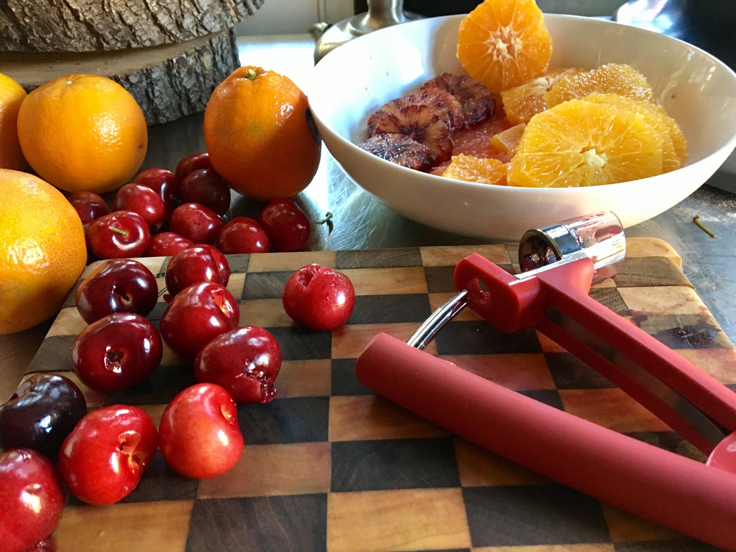 Everyone should have a cherry pitter. You will use more fresh cherries!