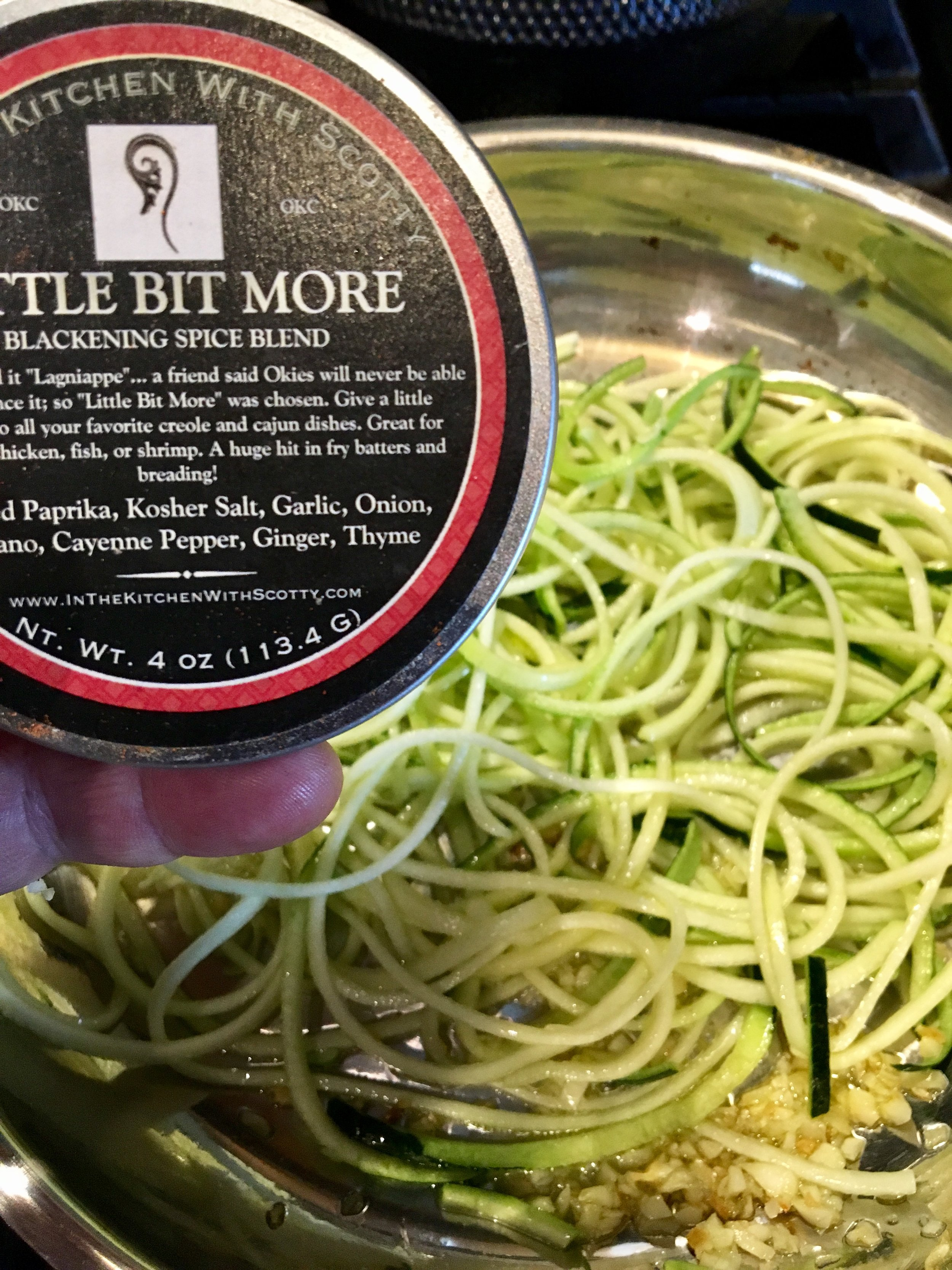 Zucchini Noodles and Little Bit More Seasoning... perfect match!