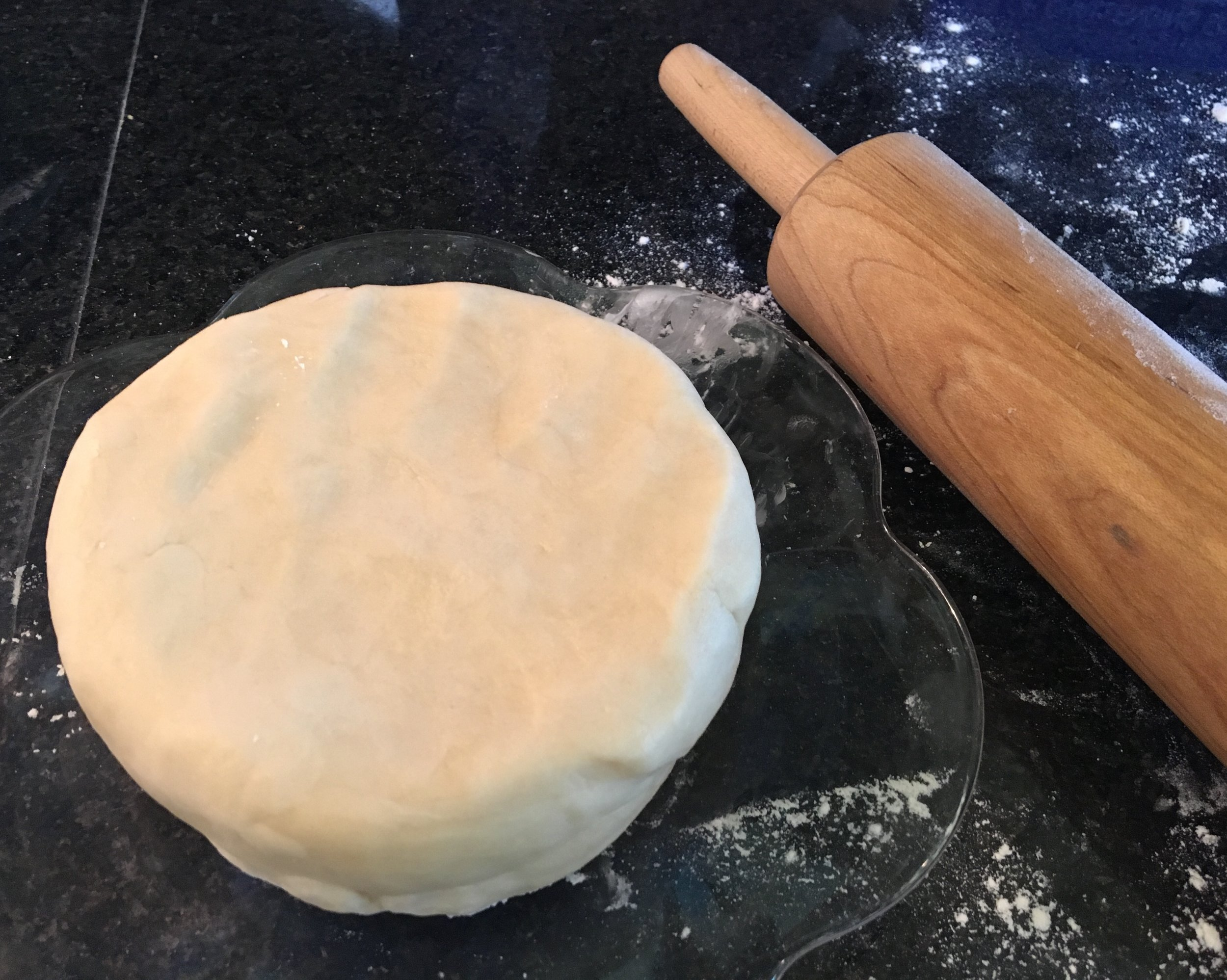 Gently and quickly work the dough to a nice satiny ball, then flatten. Wrap and chill for one hour or more before using.