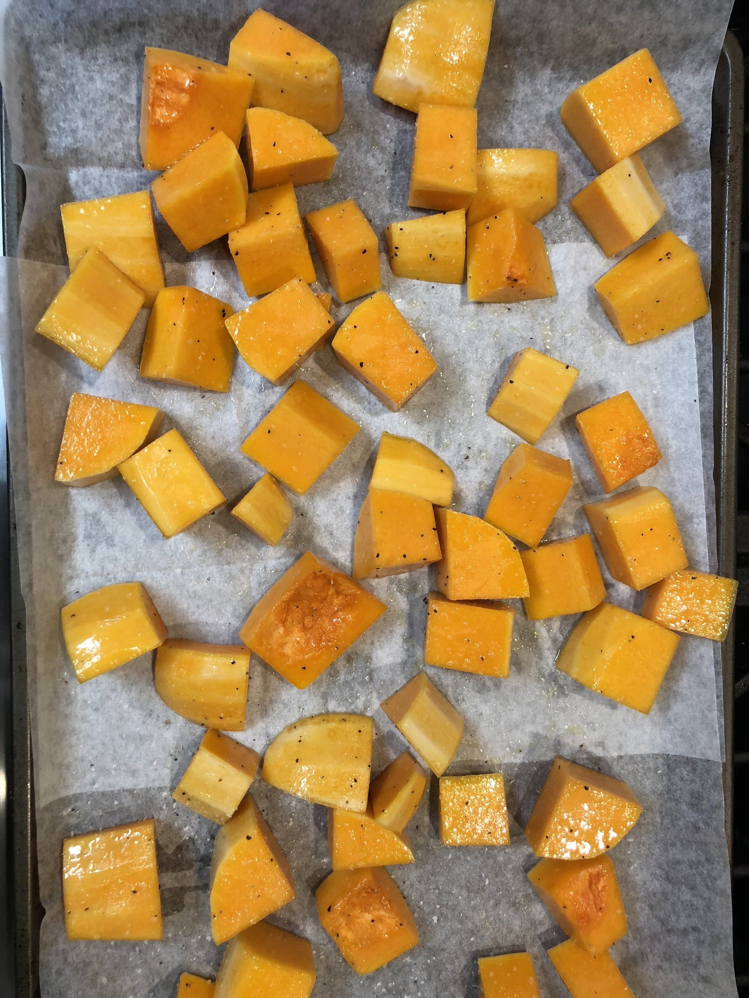 Butternut Squash ready for roasting!