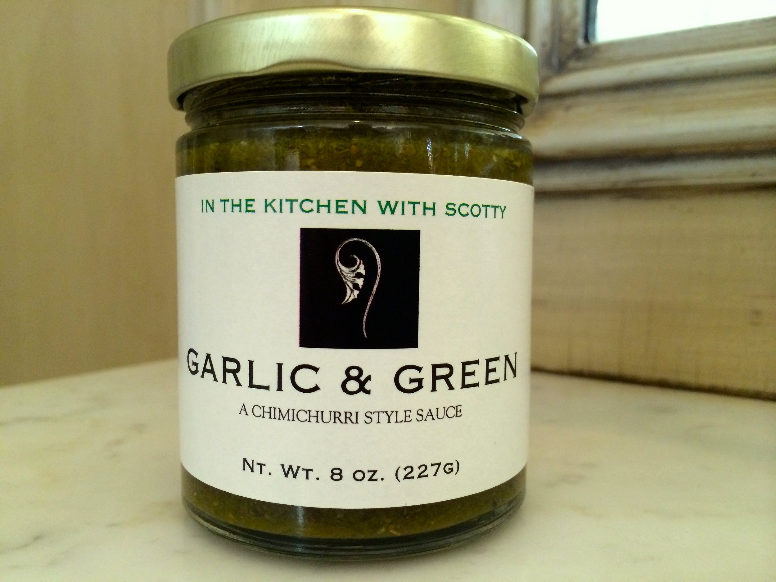 "In The Kitchen With Scotty ""Garlic and Green"" Chimichurri Sauce"