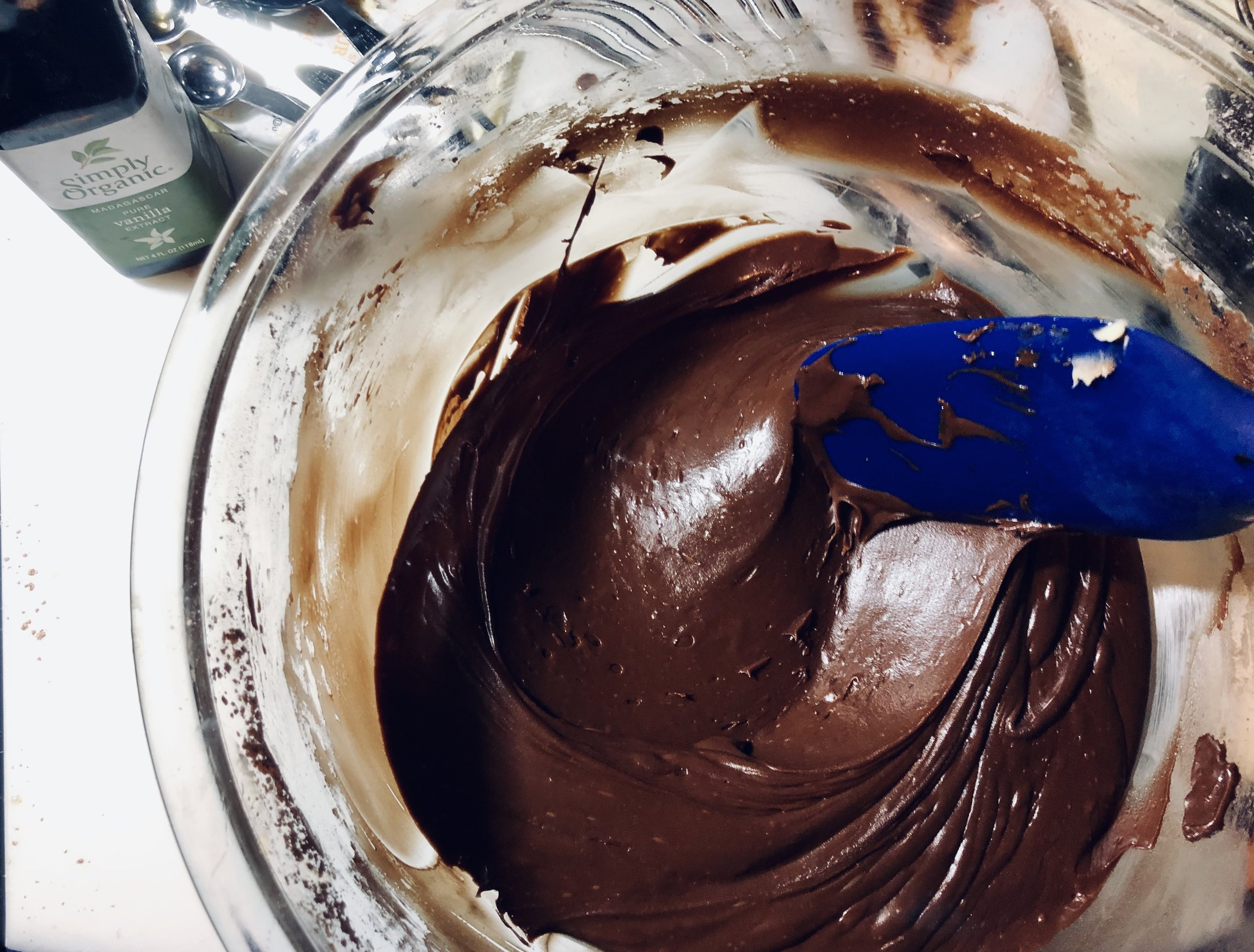 Rich, smooth, and chocolatey, fudge frosting!