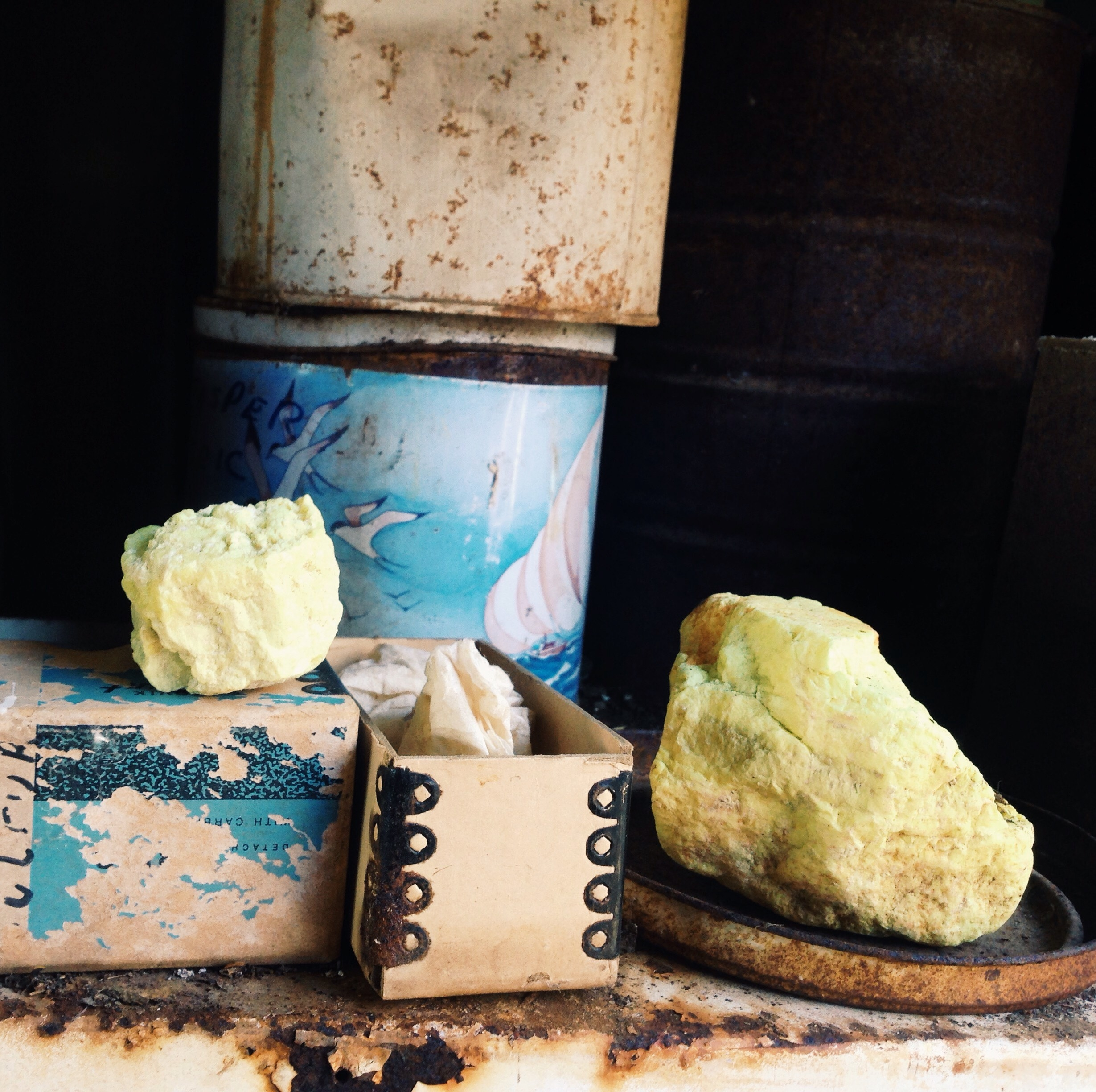 Sulphur sample from the amazing precious stone and mineral collection.