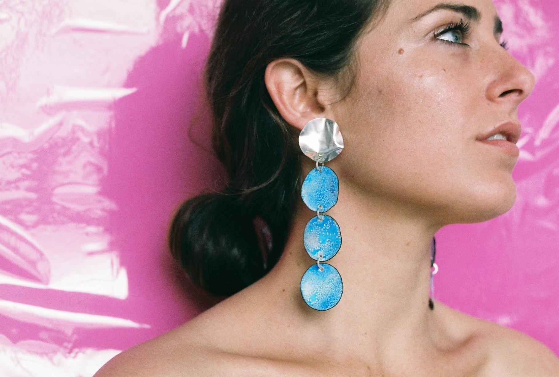 Blue-silver-ada-hodgson-contemporary-australian-jewellery-designer-jeweller-handmade-mebourne-made-custom-colourful-enamel-silver-gold-statement-ring-earrings-handcrafted-unique-bespoke