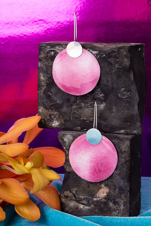 The Rose Imaginary Planet earrings, a limited edition statement earring!