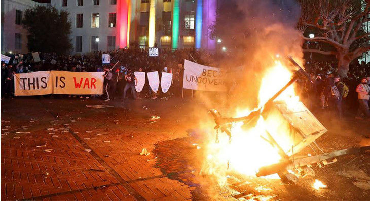 Berkeley Antifa Protest