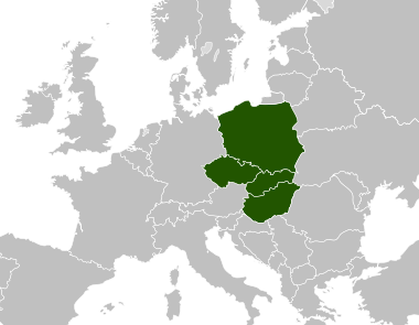 By CrazyPhunk - Own work based on: Visegrad group countries.jpg, Public Domain, https://commons.wikimedia.org/w/index.php?curid=2116089
