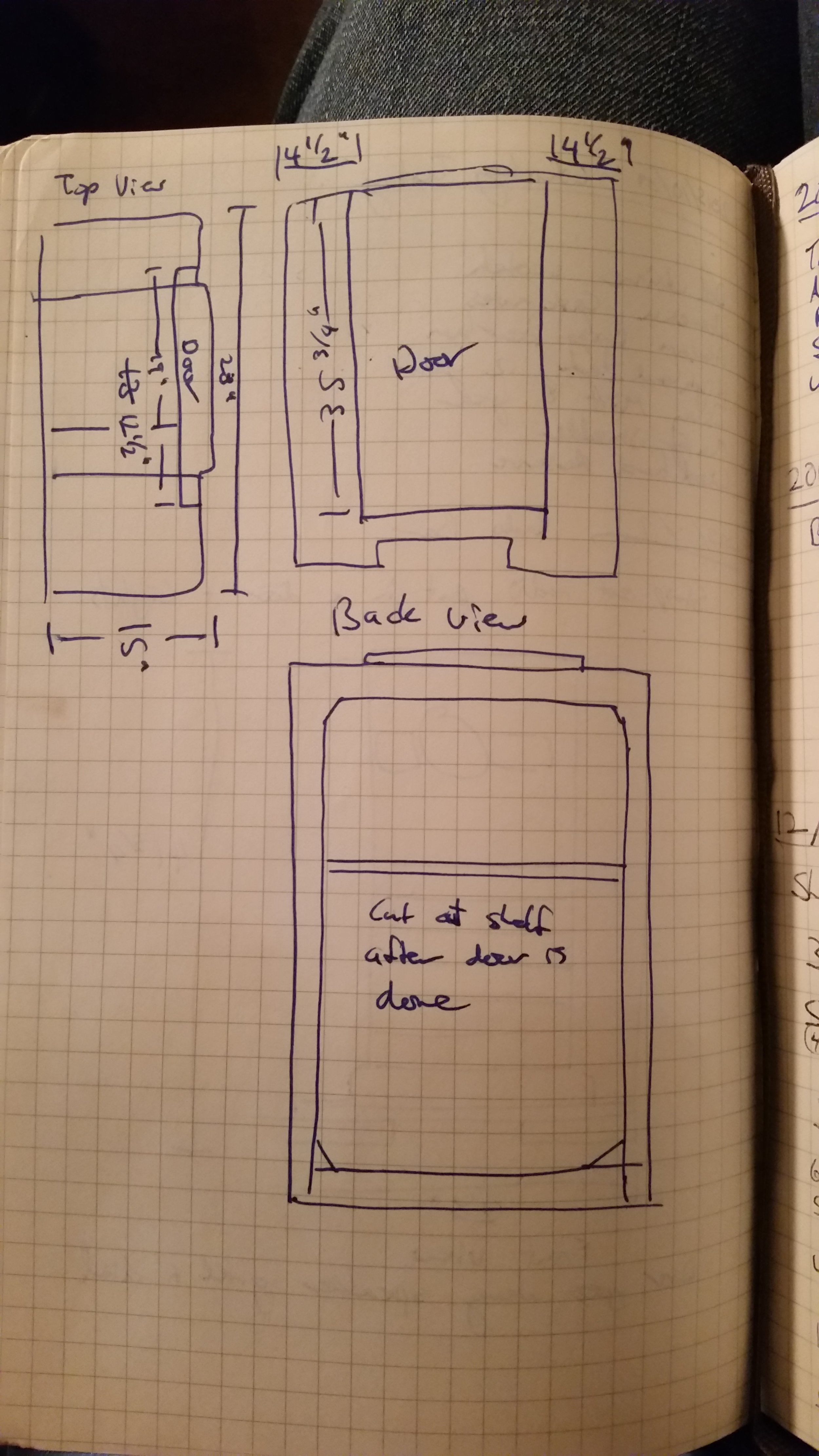 Radio bar door measurements