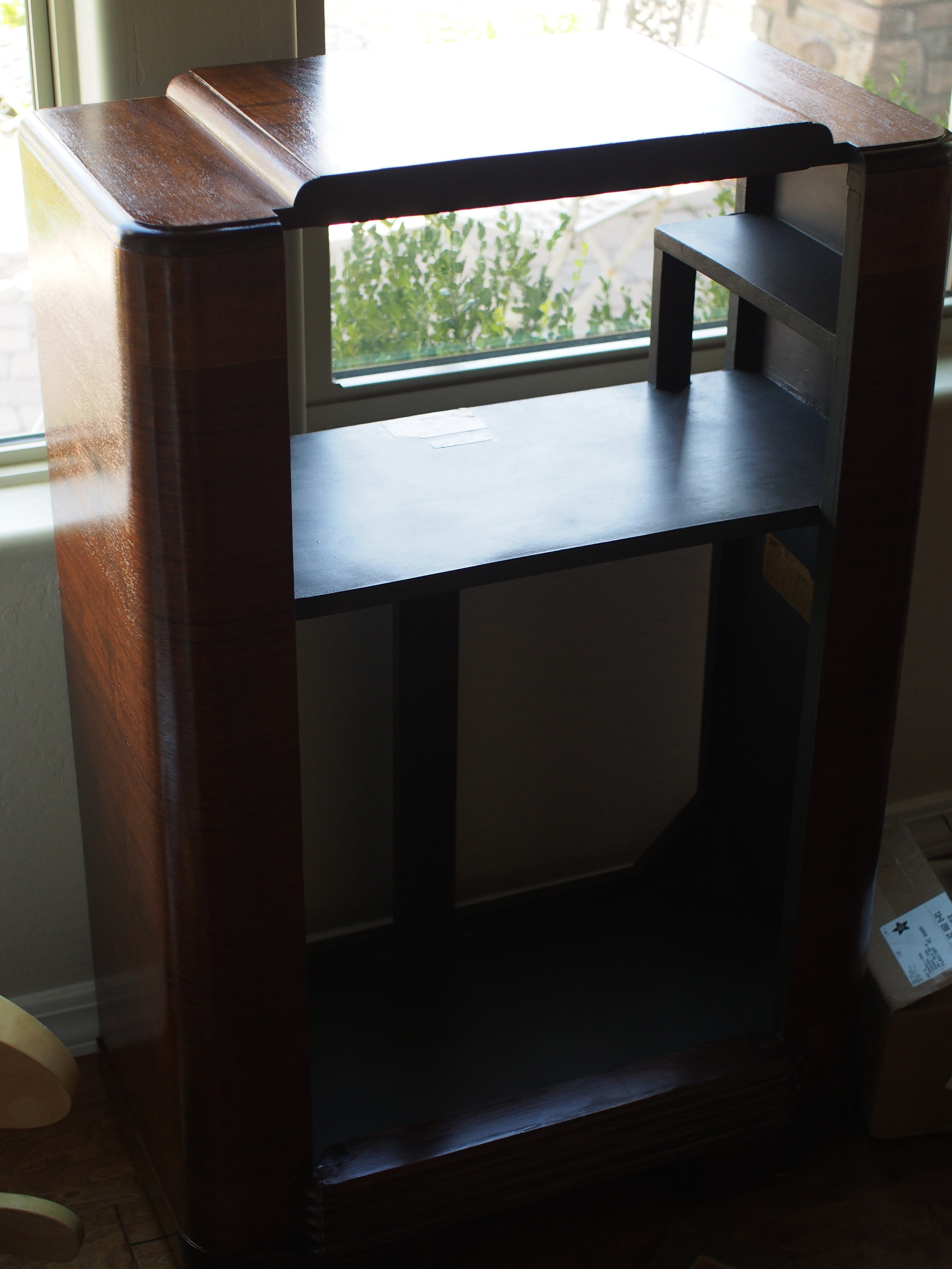 The cabinet in the final room for better lighting