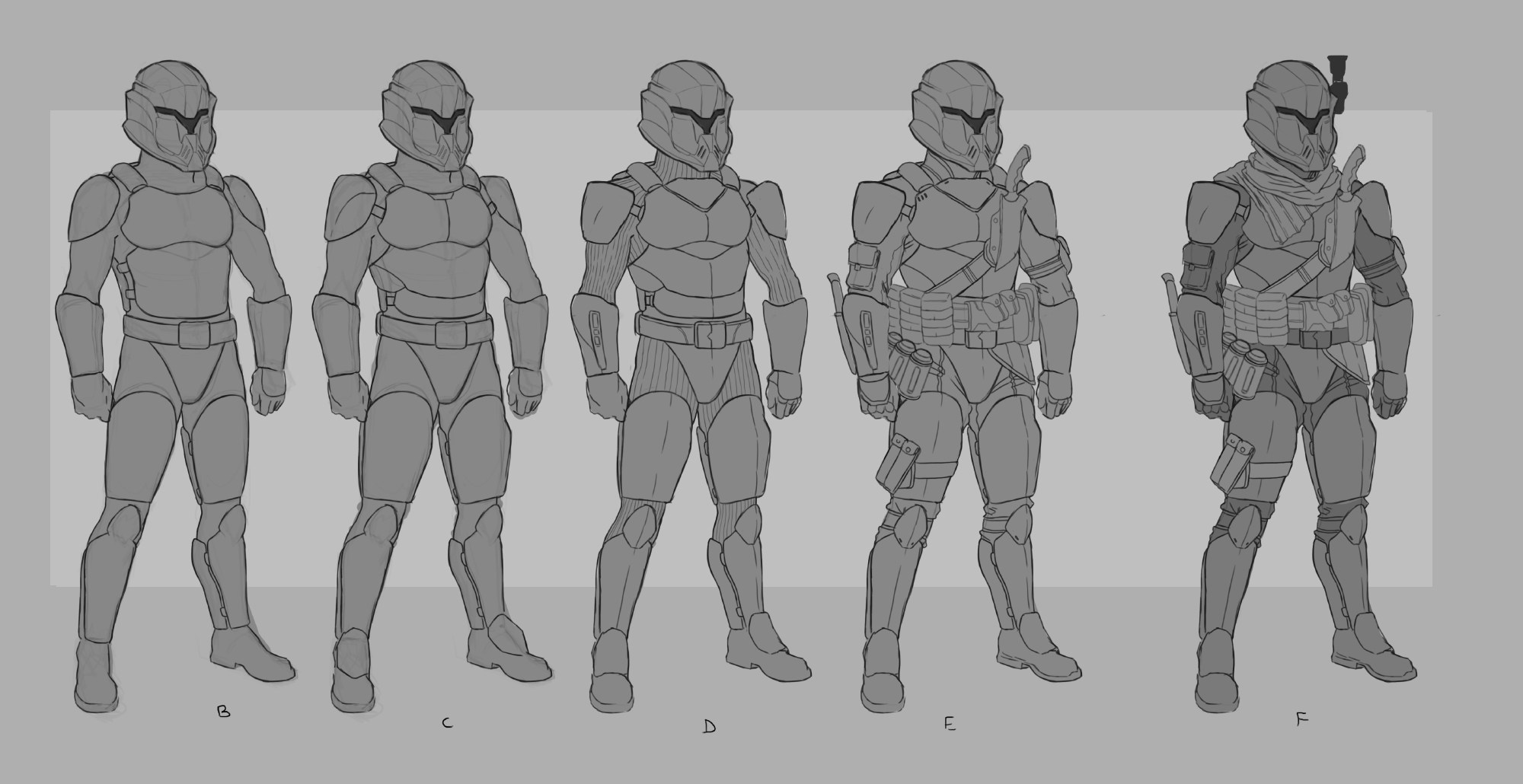 Galaxy's Edge: Legionnaire concept art via Jason Anspach's blog