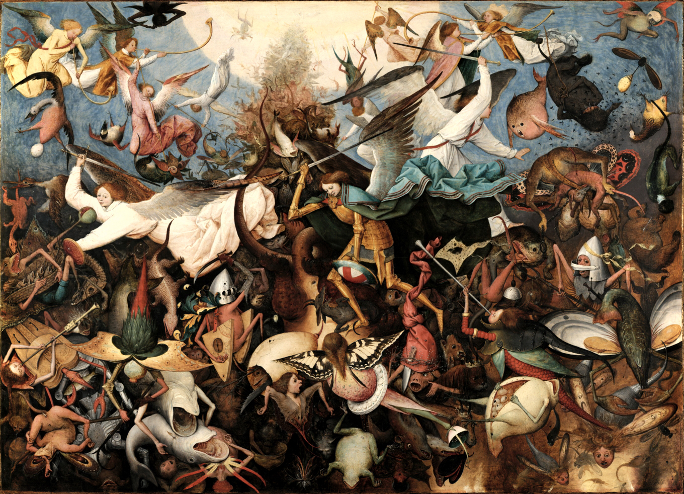 The Fall of the Rebel Angels  By Pieter Brueghel the Elder - www.fine-arts-museum.be : Info, Public Domain, https://commons.wikimedia.org/w/index.php?curid=34089605