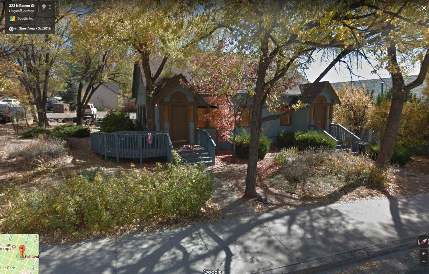 Duplex on the site previously, Google Street View 2018