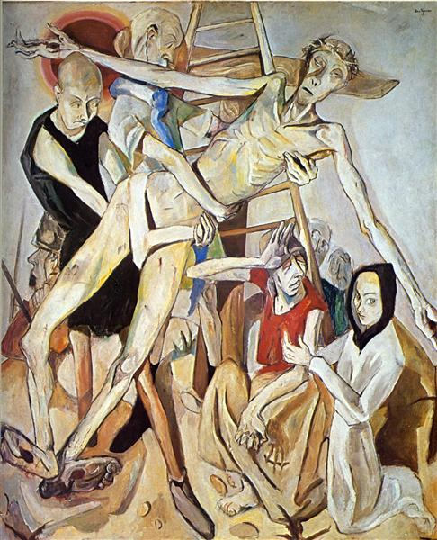 Max Beckmann – Descent from the Cross 1917  Public domain in the US