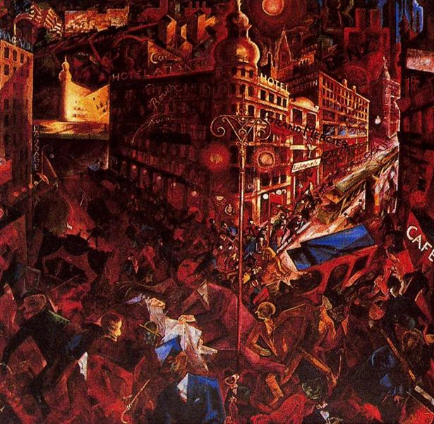 George Grosz – The City 1916 -1917  Public domain in the US