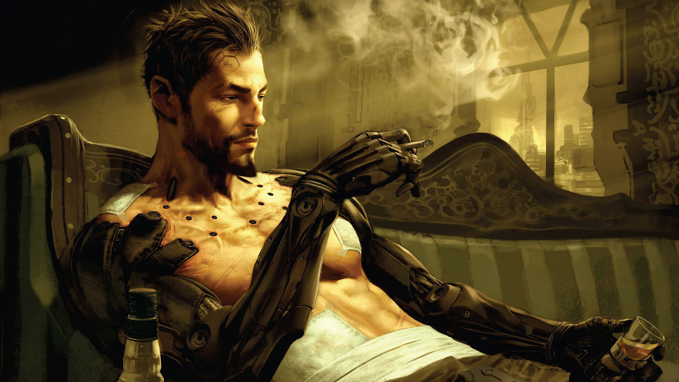 Adam Jensen is not entirely happy with the direction of his life