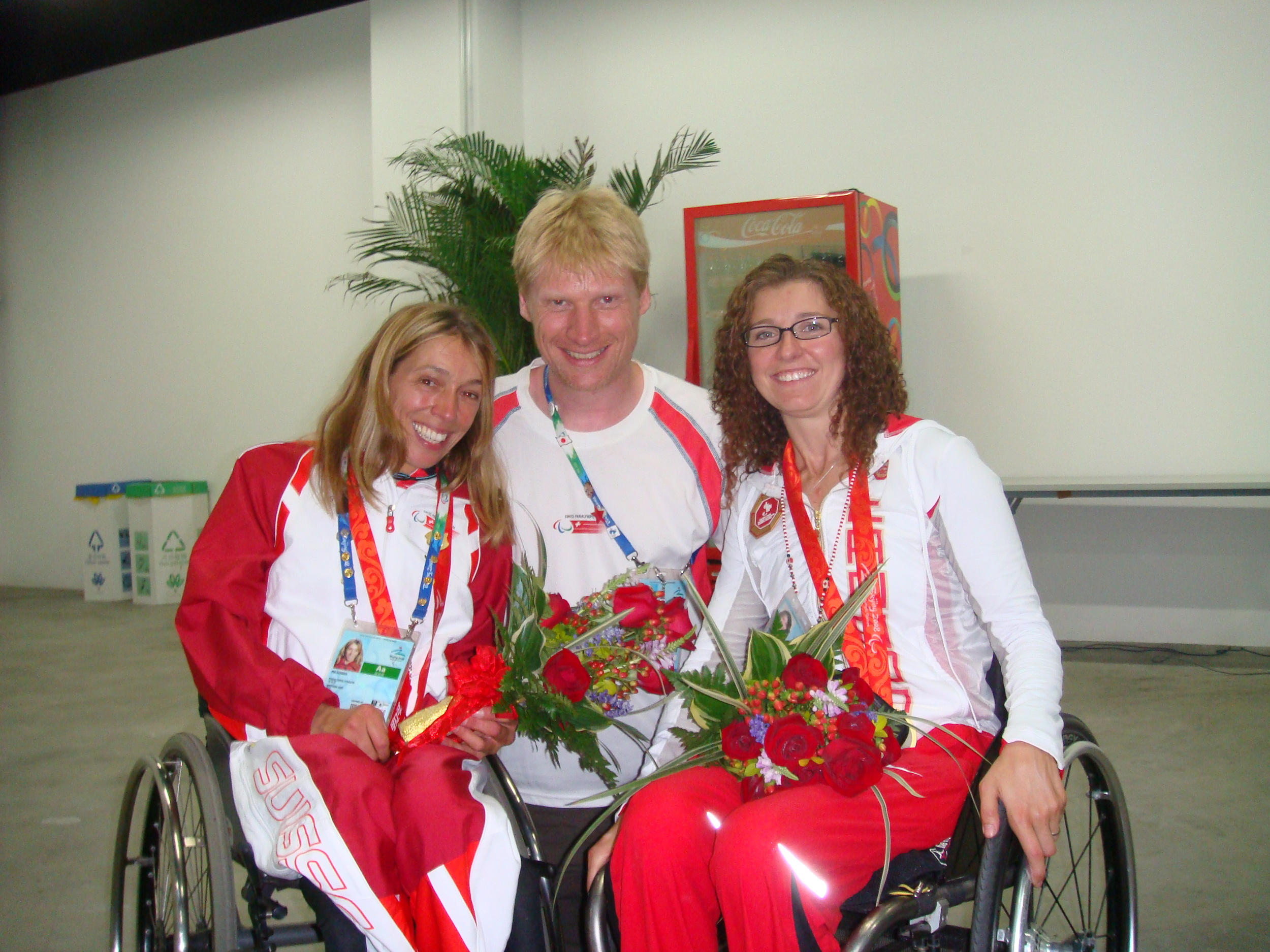 With Pia Schmidt Silver Medalist