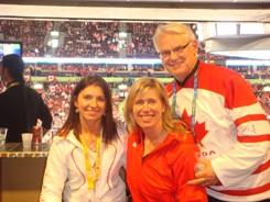 Michelle, Silken Lauman and Gordon Campbell