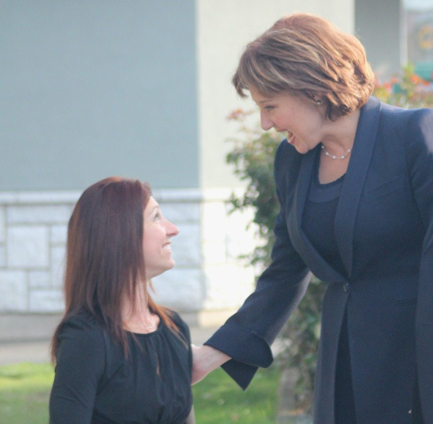 Michelle and Premier Christy Clark