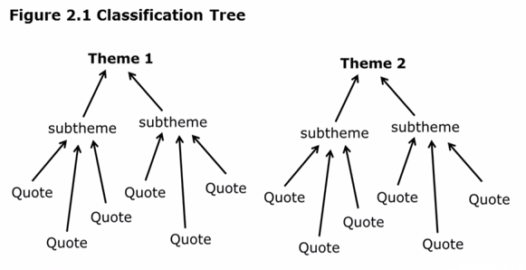 Qualitative analysis classification tree from the video (around 7:45)