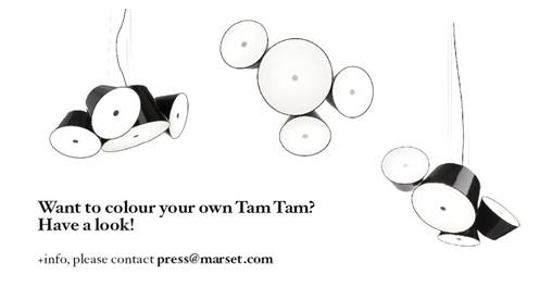 Those clever people from Marset have made your life that little bit easier, click  and chose colours for Tam Tam. Simple.       Tam Tam  by Fabien Dumas for Marset