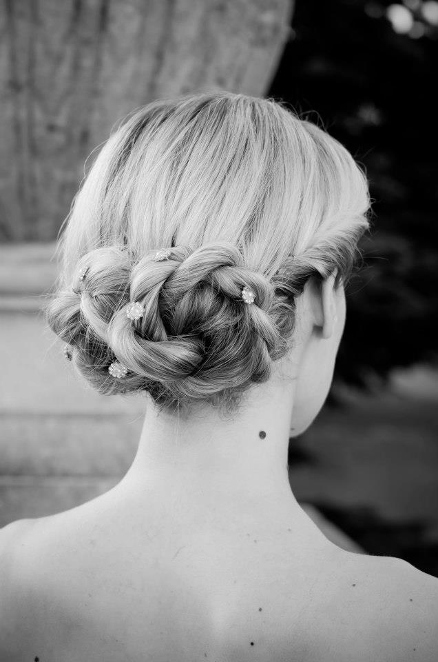 Feminine, braided up do