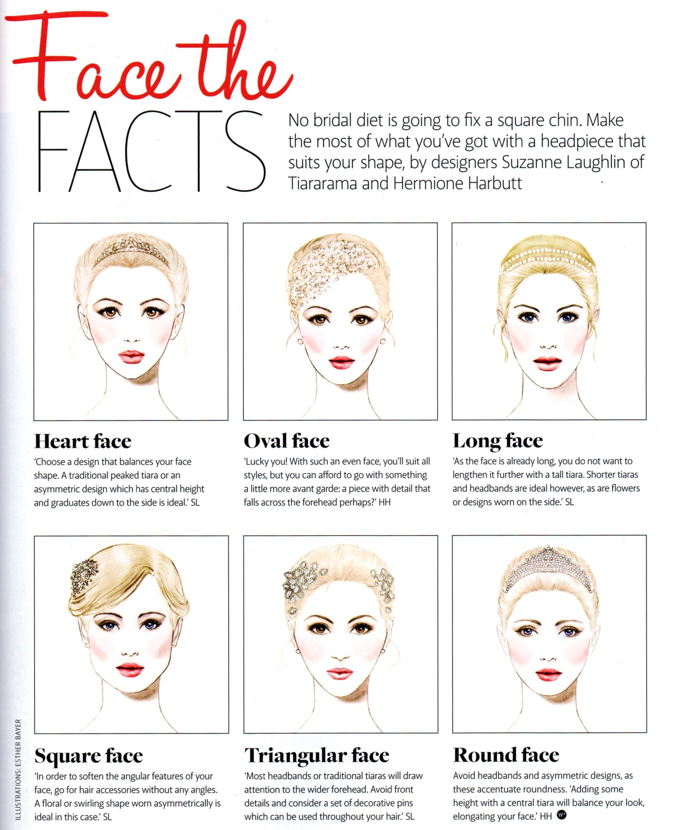 Fab advice on face shapes and the best hair accessories for you on your wedding day