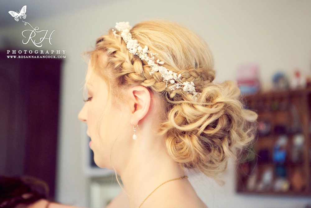 Messy wedding updo
