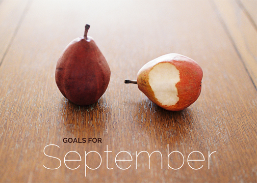 Goals for the month of September