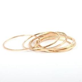 Gold Threadbare Rings