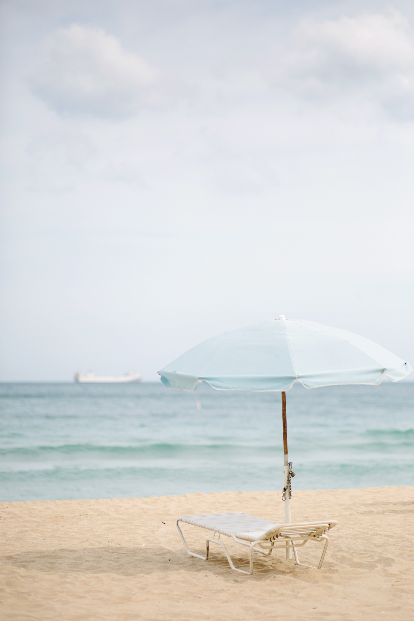 Blue Beach Umbrella Fort Lauderdale Beach Florida