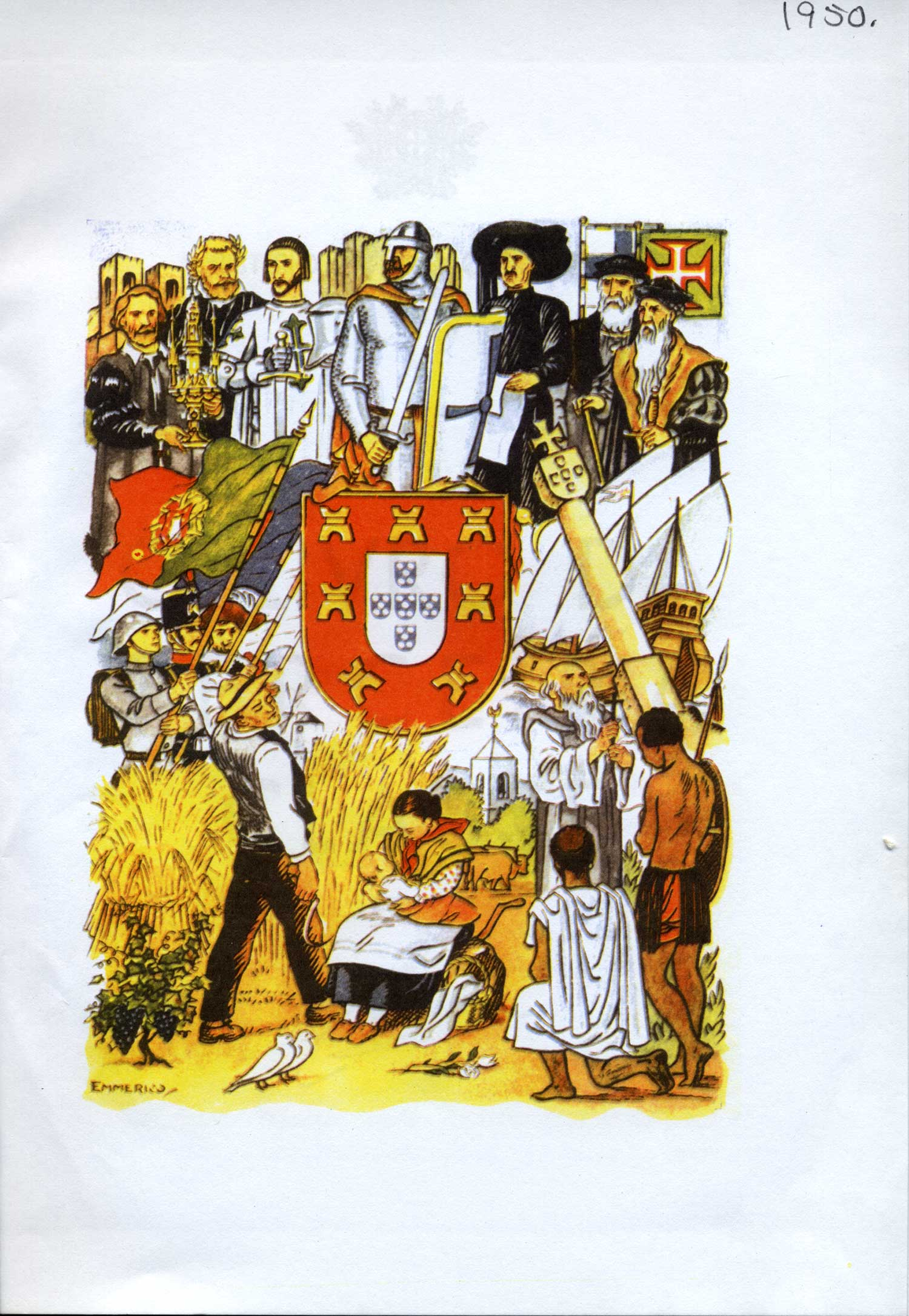 The imagery of the New State mythologizes an ancient Portuguese empire and its heroes, recycling the image of a powerful race that would lead Portugal into a successful future including an overseas empire.