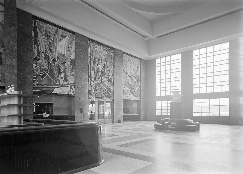 Gare Marítima de Alcântara, Lisbon Artist: José de Almada Negreiros  Photo: Mário Novais, ca. 1943-1945, Lisbon  [CFT003_033116